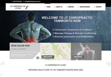 JTChiro web design mackay