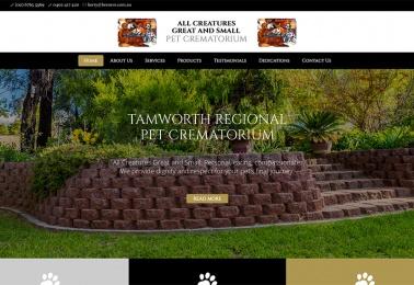 pet crematorium website design