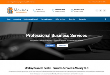 mackay business centre web design