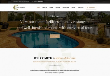 casino motor inn web design
