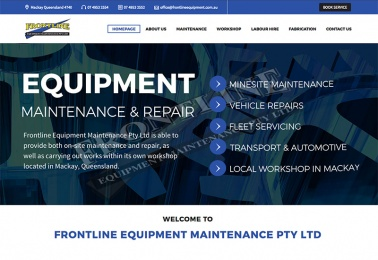 frontline equipment web design