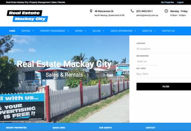 real estate web design mackay