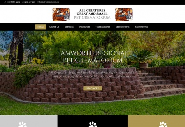 pet crematorium website design