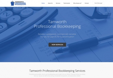 tamworth-bookkeeping website design