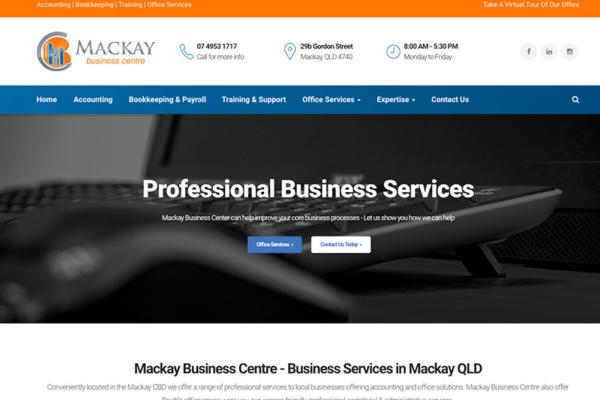 mackay business centre web design