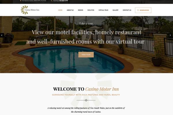 casino motor inn web design