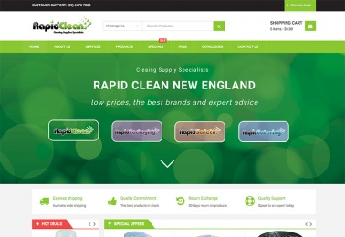rapid clean ecommerce website