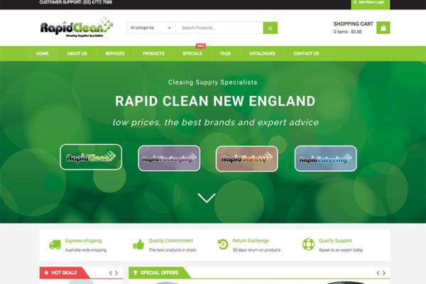 rapid clean ecommerce website